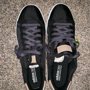 Men Adidas Neo Cloud Foam Black Sneakers.  NWT